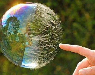 Personal healing and the bubble metaphor